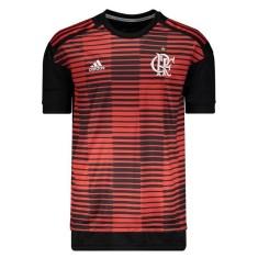 3510d19810f9a Camisa Longline Flamengo 2018 19 Treino Masculino Adidas