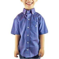 Imagem de Camisa Infantil Austin Western Exclusiva Xadrez Lilás