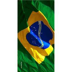 Imagem de Toalha de Praia Buettner Veludo Estampado Bandeira