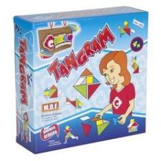 Imagem de Tangram MDF -Carlu Brinquedos Jogo Didático