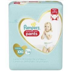 Fralda de Vestir Pampers Pants Tamanho XXG 24 Unidades Peso Indicado 14 - 25kg