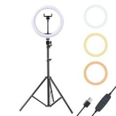 Imagem de Iluminador Led Ring Light 12 Polegadas 30cm c/ Tripé 2m