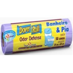 Imagem de Sacos para Lixo Odor Defense Dover Roll Banheiro e Pia 50Uni