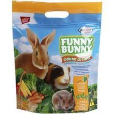 Imagem de Ração Funny Bunny Delícias da Horta Alimento para Coelhos e Pequenos Roedores