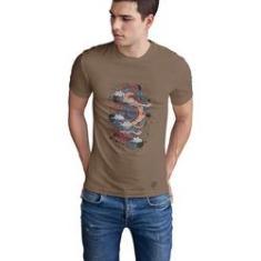 Imagem de Camiseta em Algodão Egipcio Bege - Dragon