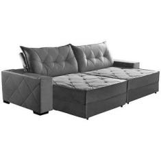 Sofá 3 lugares Reclinável Retrátil Suede Hollywood 230 cm Sofa Casa