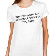 Imagem de Camiseta Camisa T-shirt Blusa - Sutiã
