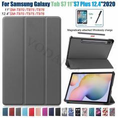 Imagem de Capa de ímã para Samsung Galaxy Tab S7 mais 12.4 polegadas T970 T975 T976 Stand Funda capa para Samsung Galaxy Tab S7 SM-T870 T875
