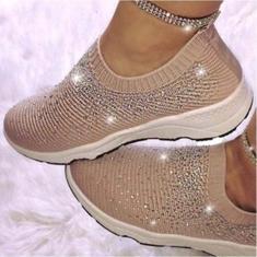 Imagem de Flying Woven Mesh Sapatos novos Wild Trend Sapatos femininos jovens Sapatos de mola