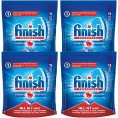 Imagem de Finish Sabão Para Máquina De Lavar Louças 4 Unidades