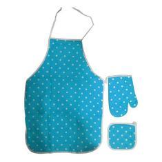 Imagem de Avental Luva Aparador De Panela  Kit Para Cozinha