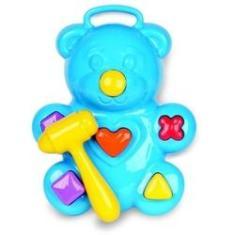 Imagem de Ursinho Didático Interativo C/ Martelo - Divplast Brinquedos