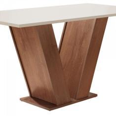 Imagem de Conjunto Sala de Jantar Mesa Tampo MDF 6 Cadeiras Espanha Yescasa Chocolate / Off White