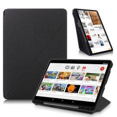 Imagem de Com estojo de suporte de lápis para samsung galaxy tab s7 plus inteligente suporte tablet capa para