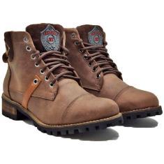 Imagem de Boots Masculino Coturno Em Couro Botinha Cano Médio 788