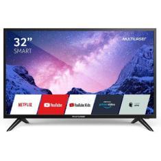 """Imagem de Smart TV LCD 32"""" Multilaser TL031 2 HDMI LAN (Rede)"""