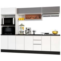 Imagem de Cozinha Completa 2 Gavetas 11 Portas para Cooktop Evidence Poliman Móveis