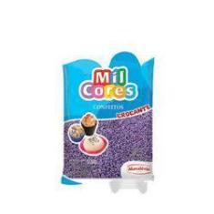 Imagem de Confeitos De Açúcar Crocantes Miçanga Mil Cores 500g Mavalério