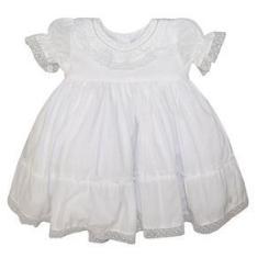 Imagem de Vestido Bebê Batizado Bordado Pérolas