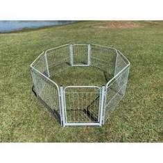 Imagem de Cercadinho Cães Canil Pet Util 6 Lados Cercado Com 2 Portões Branco