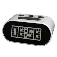 Imagem de Relogio Despertador de LCD Prata - Incasa