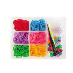 Imagem de Kit Fábrica de Pulseiras Com 600 Elásticos - i9 Brinquedos