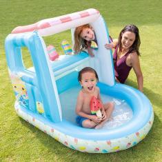Imagem de Piscina Inflável Infantil Com Cobertura Ice Cream 60 Litros Intex