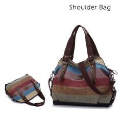 Imagem de Bolsas de ombro para bolsas de lona femininas
