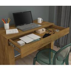 Imagem de Escrivaninha Mesa Para Notebook Com 1 Gaveta Cleo Mel - Permobili