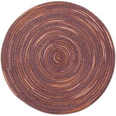 Imagem de Misright Tapete redondo de isolamento térmico feito à mão, tecido de algodão redondo, tapete de mesa de cozinha colorido de arco-íris trançado