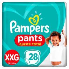 Fralda de Vestir Pampers Pants Ajuste Total Tamanho XXG 28 Unidades Peso Indicado 14 - 25kg
