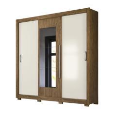 Guarda-Roupa Casal 3 Portas Gavetas com Espelho Montreal Flex Moval