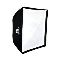 Imagem de Softbox Universal Greika SBUBW 60x60cm Tipo Sombrinha para Iluminação de Estúdio