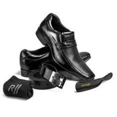 Imagem de Sapato Masculino Com Kit 4x1 Rafarillo Social Casual em Couro Conforto