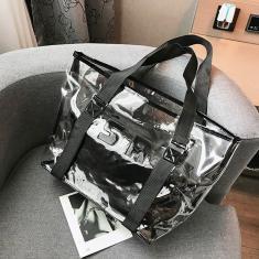 Imagem de Impermeável transparente Shoulder Bag Jelly Bag Feminino Lazer Bolsa de Praia-G