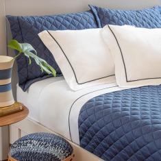 Imagem de jogo de cama queen scavone 300 fios 100% algodão normandie