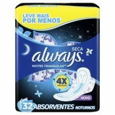 Imagem de Absorvente Always Protecao Total Seca Noturno Com Abas Leve 32 Pague 26