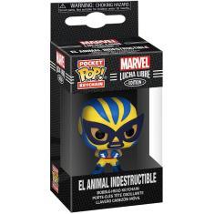 Imagem de Funko Pop! Chaveiro: Marvel Luchadores - Wolverine, 2 Polegadas