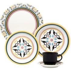 Aparelho de Jantar Redondo de Porcelana 20 peças - Floreal Luiza Oxford Porcelanas