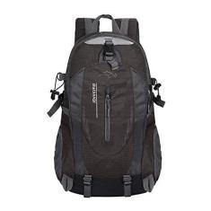 Imagem de QOHNK Mochila masculina à prova d'água mochila masculina mochila escolar viagem bolsa de mão