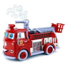 Imagem de Brinquedo Caminhão Bombeiro Bolhas De Sabão Com Luz Música