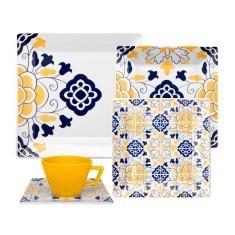Imagem de Aparelho de Jantar Quadrado de Porcelana 30 peças - Sevilha Quartier Oxford Porcelanas