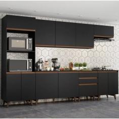 Imagem de Cozinha Completa 3 Gavetas 11 Portas para Cooktop Reims 320002 Madesa