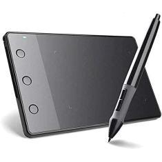 Mesas Digitalizadoras Huion H420 Black Kit de Tablet de Desenho Gráfico USB