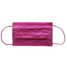 Imagem de Máscara Tripla Descartável - Colorida -  Pink 100un
