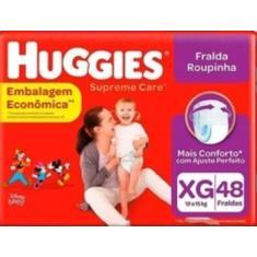 Fralda de Vestir Huggies Disney Supreme Care Fralda Roupinha Tamanho XG Econômica 48 Unidades Peso Indicado 12 - 15kg