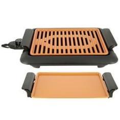 Imagem de Churrasqueira Portátil Grill Elétrico Prático Cozinha Carne