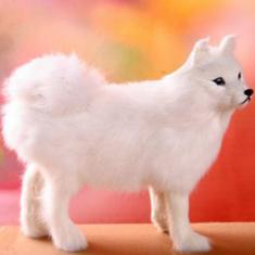 Imagem de Sólido ornamento Modelo de Simulação Samoyed Dog Modelo Wild Animal bom presente