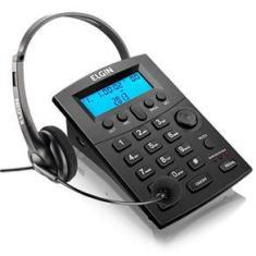 Telefone Headset Elgin HST8000 com Identificador de Chamadas
