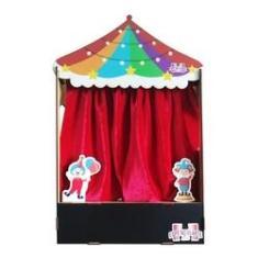 Imagem de Cenário de Teatro de Dedoches e Fantoches Sensacional - Circo (50x33x12)